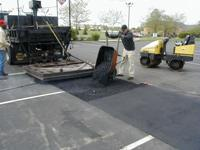 Placing Fresh Asphalt